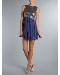 TFNC London - Blue Sarah Dress - Lyst