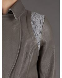 Thakoon   Gray Leathercable Bomber   Lyst