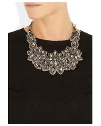 Valentino - Multicolor Floral Glass Crystal Necklace - Lyst