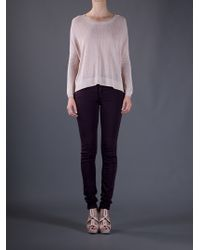 Victoria Beckham | Purple Skinny Jean | Lyst