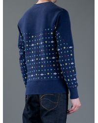 Vivienne Westwood Anglomania | Blue Orb Print Sweatshirt for Men | Lyst