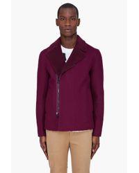 3.1 Phillip Lim   Red Burgundy Reversible Sherpa Jacket for Men   Lyst