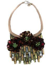 Matthew Williamson | Metallic Flower Necklace | Lyst