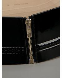 McQ Alexander McQueen | Black Wide Zip Belt | Lyst