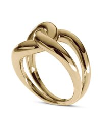 Michael Kors - Metallic Gold Tone Twisted Knot Ring - Lyst
