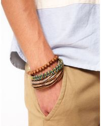 River Island - Natural Bracelet Pack for Men - Lyst