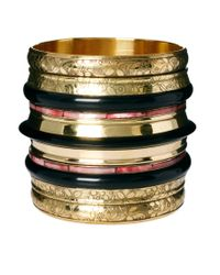 River Island | Yellow Gold Multi Stack Effect Bangle | Lyst