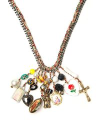 Venessa Arizaga - Metallic Neon Charm Necklace - Lyst