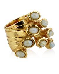 Saint Laurent - Metallic Arty Dots Ring - Lyst