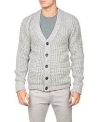 Dolce & Gabbana | Gray Waffle Knit Cardigan for Men | Lyst
