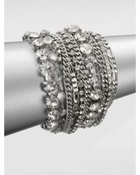 ABS By Allen Schwartz | Metallic Multi-row Link Chain Bracelet | Lyst
