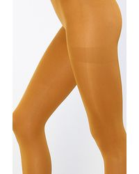 Free People - Yellow London Opaque Tights - Lyst