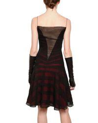 Maiyet Red Silk Chiffon Applique Dress