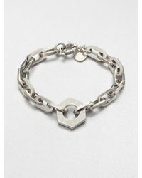 Marc By Marc Jacobs - Metallic Mini Link Nut Charm Bracelet - Lyst
