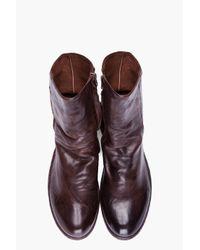 Officine Creative - Dark Brown Leather Serrano Boots for Men - Lyst