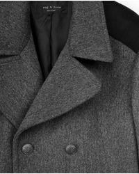 Rag & Bone - Gray Peacoat for Men - Lyst