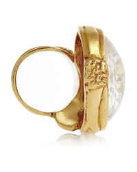 Saint Laurent | Pink Arty Gold-Plated Glass Ring | Lyst