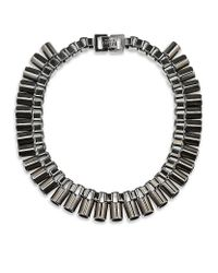Mawi | Gray Sunray Tube Necklace | Lyst