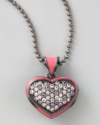 M.c.l  Matthew Campbell Laurenza | Metallic Pave Heart Pendant Necklace | Lyst
