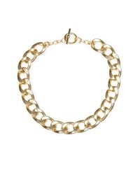 Mango | Metallic Xl Links Necklace | Lyst