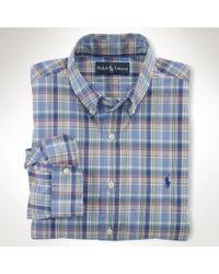 Polo Ralph Lauren - Blue Polo Ralph Lauren Custom Fit Multi Check Shirt for Men - Lyst