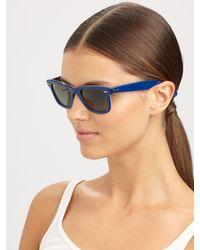 Ray-Ban   Blue Classic Wayfarer Guitar Print Sunglasses   Lyst
