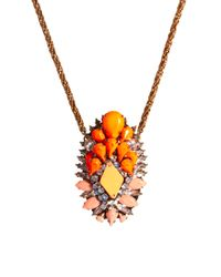Shourouk | Orange Gretchen Necklace | Lyst