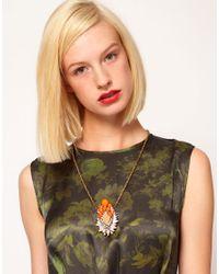 Shourouk - Orange Gretchen Necklace - Lyst