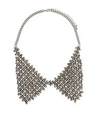 TOPSHOP - Metallic Facet Bead Peter Pan Necklace - Lyst