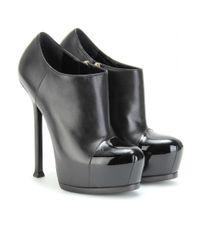Saint Laurent - Black Tribtoo 105 Platform Ankle Boots - Lyst