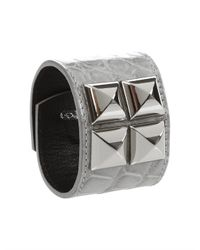 Oscar de la Renta | Gray Alligator Cuff with Studs | Lyst