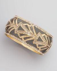 Sequin - Black Baroque Embellished Bracelet Gray - Lyst