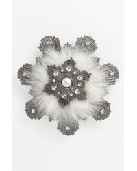 Givenchy | White Femme Faux Fur Brooch | Lyst