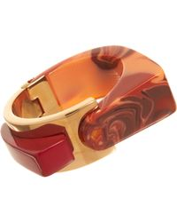 Lanvin   Orange Abstract Deco Large Bracelet   Lyst