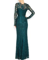 Dolce & Gabbana | Blue Lace Gown | Lyst