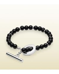 Gucci | Black Beads Bracelet | Lyst