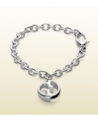 Gucci - Metallic Double G Bracelet for Men - Lyst
