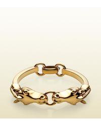 Gucci | Metallic Horse Heads Bracelet | Lyst