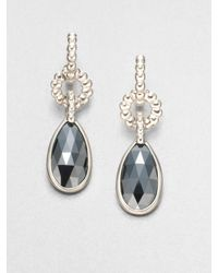 John Hardy - Metallic Hematite and Sterling Silver Drop Earrings - Lyst