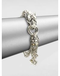 John Hardy | Metallic Naga 18K Yellow Gold & Sterling Silver Dragon Charm Multi-Strand Bracelet | Lyst