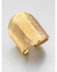 Kenneth Jay Lane | Metallic Hammered Cuff Bracelet | Lyst