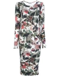 Preen By Thornton Bregazzi | Floral Moth Print Dress | Lyst
