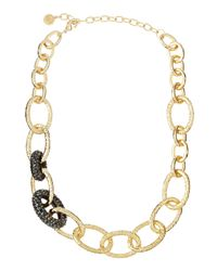 R.j. Graziano | Metallic Hematite Large Ovallink Necklace | Lyst