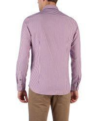 Ted Baker | Ted Baker Ardram Flannel Stripe Shirt Purple for Men | Lyst