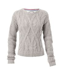 Tommy Hilfiger | Gray Long Sleeve Cable Knit Jumper with Crew Neck Aw | Lyst