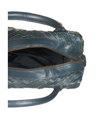 TOPSHOP | Blue Striped Leather Holdall | Lyst