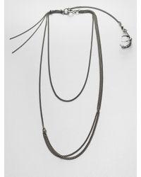 Ann Demeulemeester - Metallic Multirow Bird Claw Necklace - Lyst