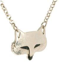 ASOS | Metallic Fox Necklace | Lyst