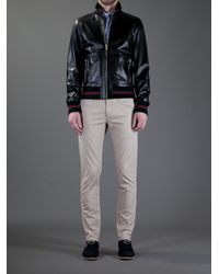 Gucci | Black Classic Leather Jacket for Men | Lyst