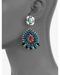 DANNIJO - Multicolored Swarovski Crystal Drop Earrings - Lyst